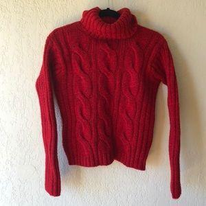 JCREW  100% Wool Red Sweater